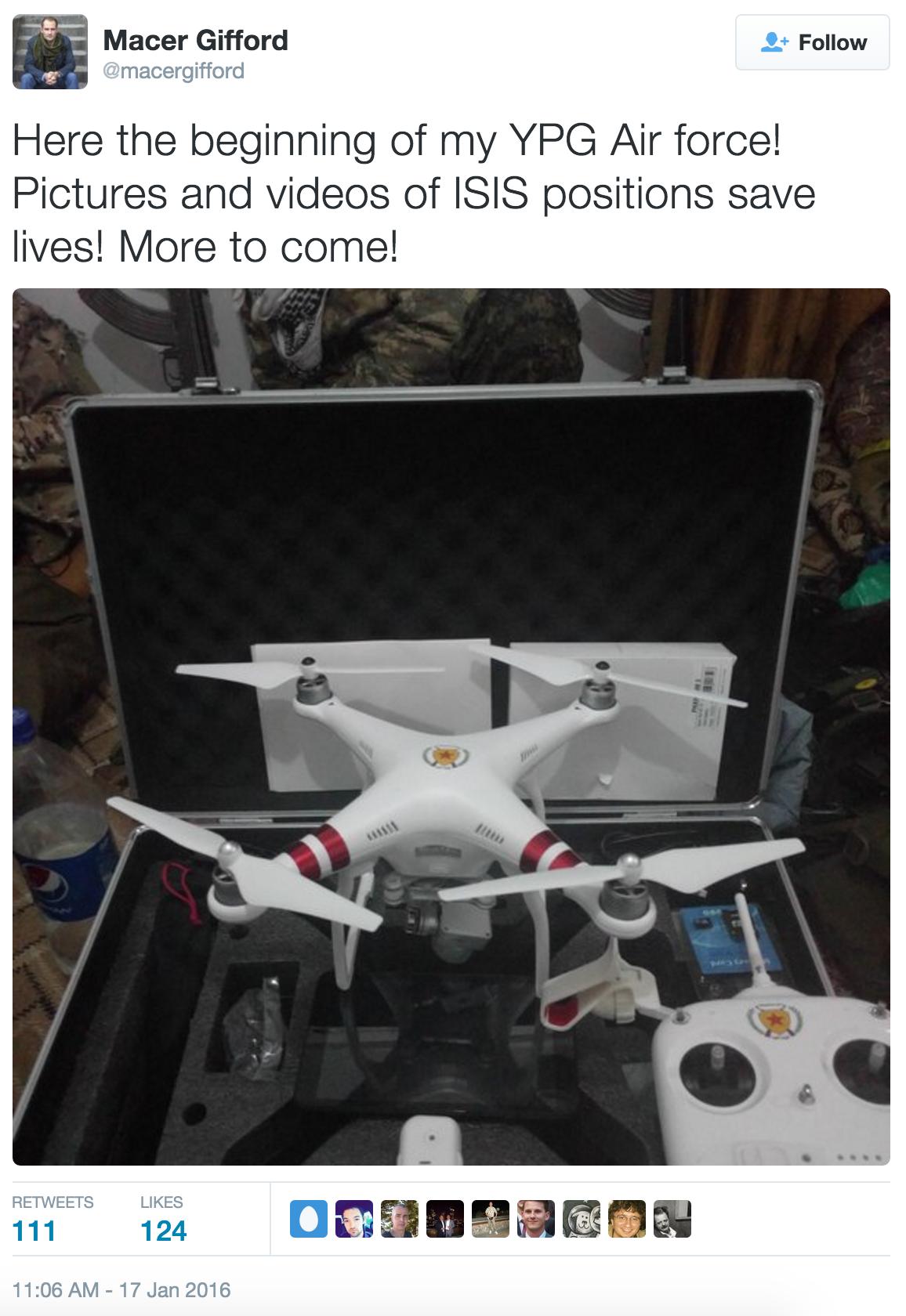 Drone Tweet