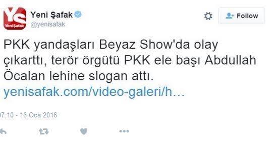 Yeni Safak Tweet