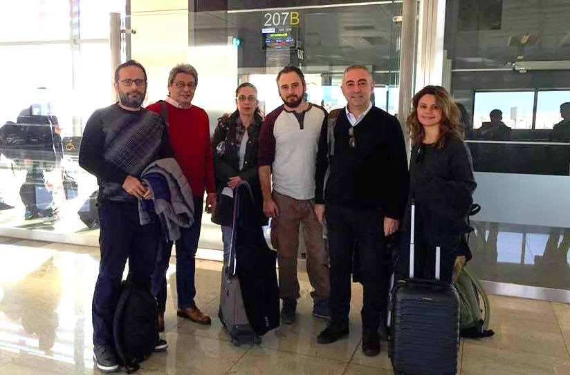 The first group departs for Diyarbakir - Wed 3 Feb Photo: Ceren Sozeri
