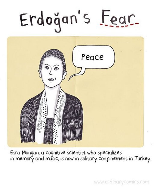 Erdogan's Fear: A depiction of one of the confined academicians