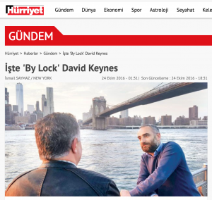 The interview, published by Hurriyet, includes photographs and documents as substantiation